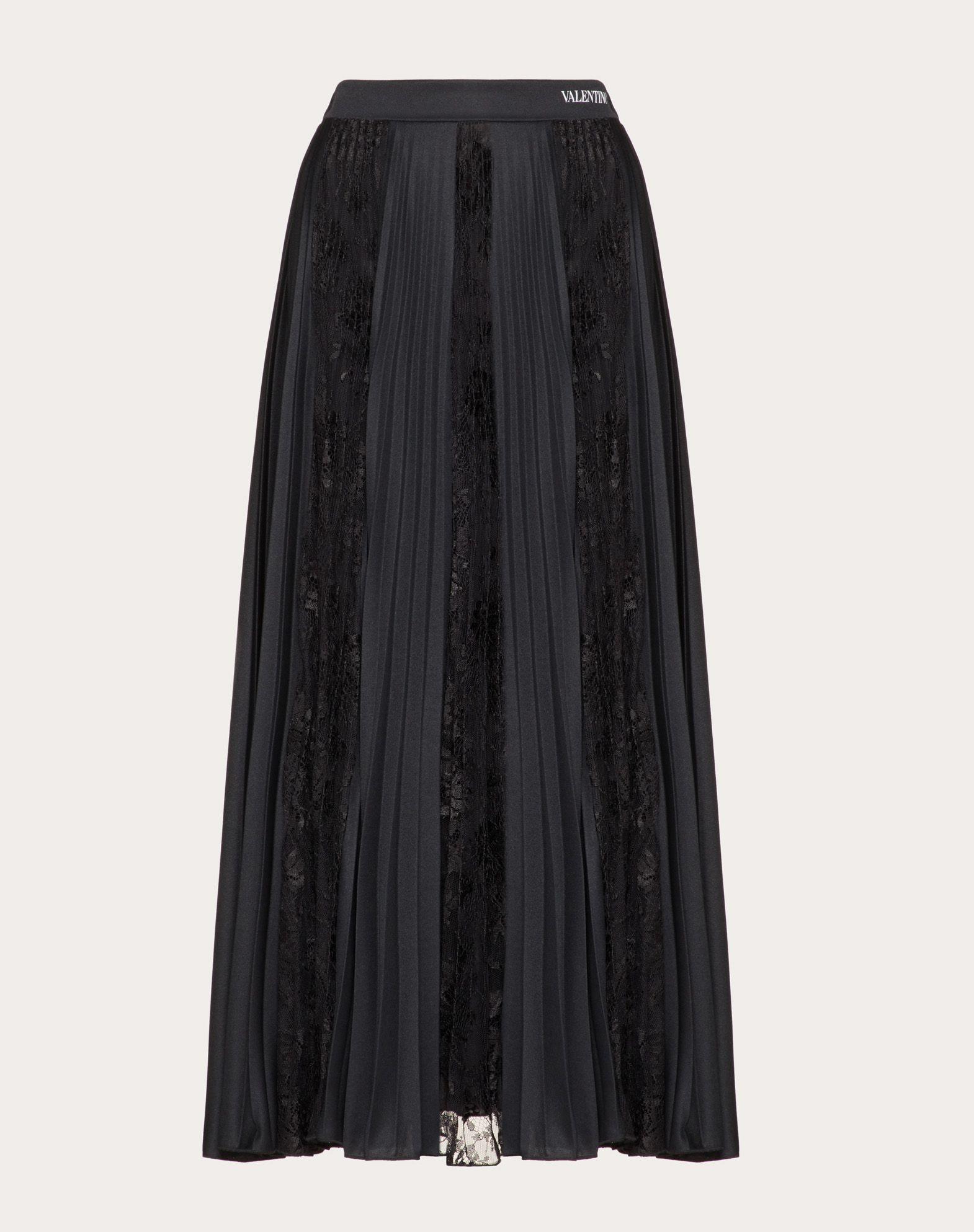 ジャージー&シャンティイレース スカート