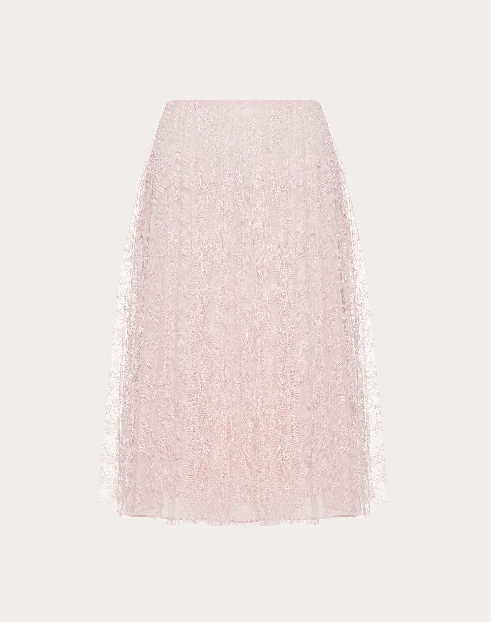 PLEATED CHANTILLY LACE SKIRT