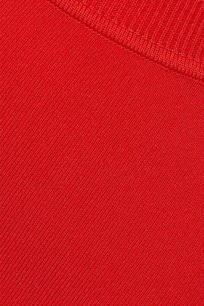 MUGLER Asymmetric stretch-knit pencil skirt