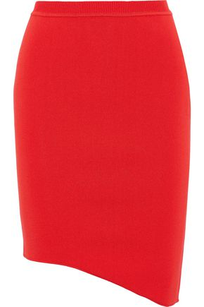 MUGLER Asymmetric stretch-knit pencil skirt