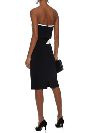 MUGLER Paneled cady pencil skirt