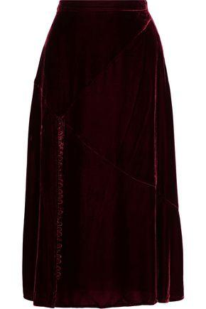 NICHOLAS Velvet midi skirt