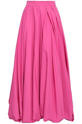 ROSIE ASSOULIN Pleated poplin maxi skirt