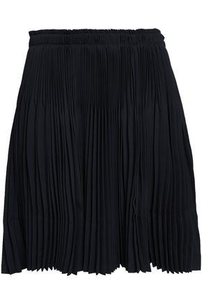 VINCE. Pleated crepe mini skirt