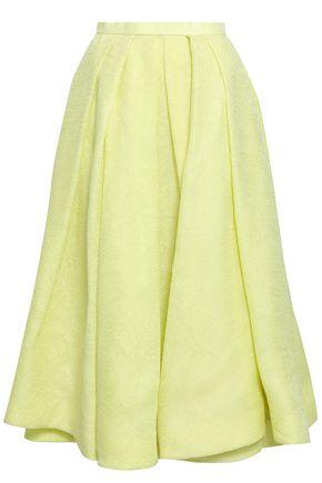 ROSIE ASSOULIN | Rosie Assoulin Pleated Silk-Jacquard Midi Skirt | Goxip