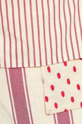 DODO BAR OR Patchwork-effect printed cotton-gauze mini wrap skirt