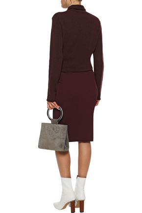 VINCE. Ribbed-knit pencil skirt