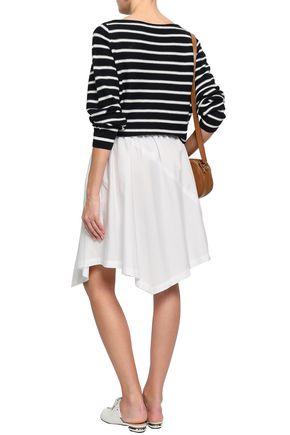 VINCE. Asymmetric cotton-poplin skirt