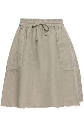 AMERICAN VINTAGE Frayed linen skirt