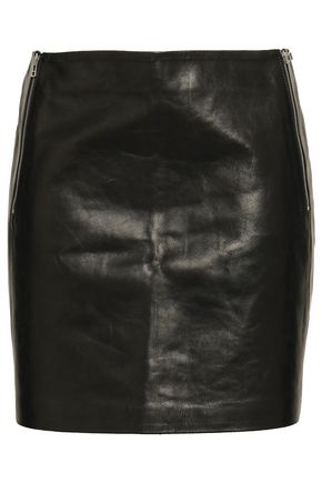 ANINE BING Leather mini skirt