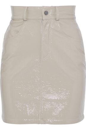 MICHAEL LO SORDO Ribbed cotton-chenille mini skirt