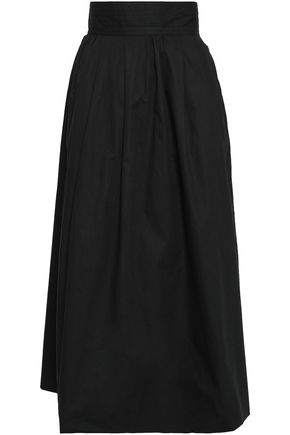 ANTIK BATIK Lako flared cotton midi skirt