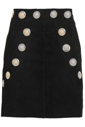 ANTIK BATIK Studded suede mini skirt