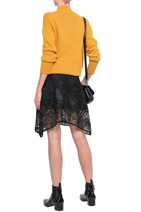 ANTIK BATIK Lacy asymmetric guipure lace skirt