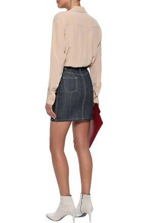 MICHAEL LO SORDO Denim mini skirt