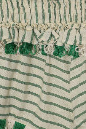 DODO BAR OR Embellished cotton-gauze halterneck mini dress