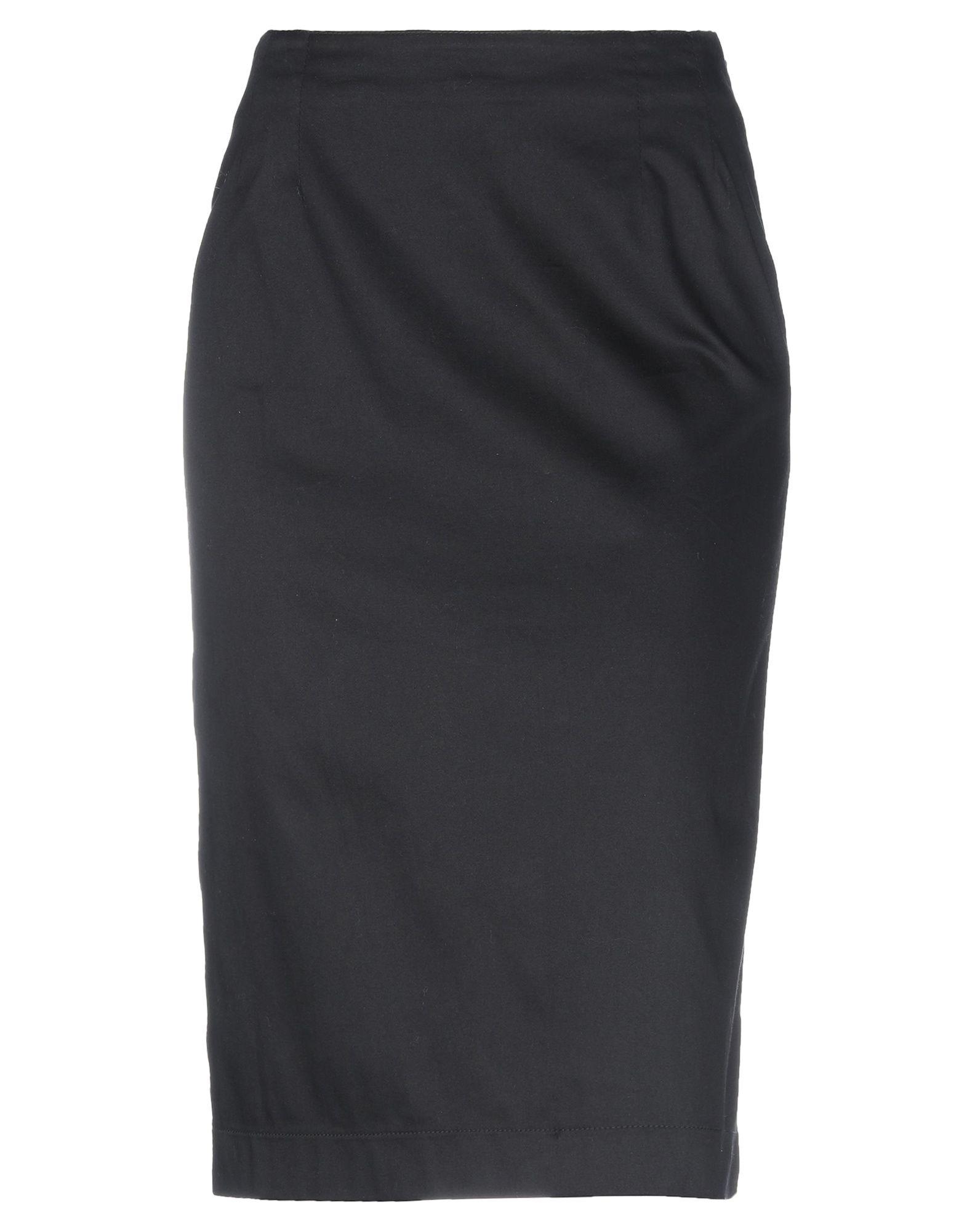 《セール開催中》ARMANDO CALO' レディース 7分丈スカート ブラック 42 コットン 97% / ポリウレタン 3%