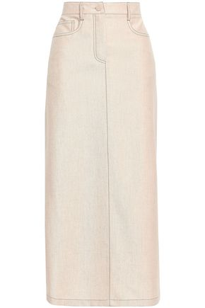 AGNONA Wool and cashmere-blend flannel midi skirt