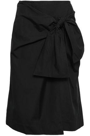 DIANE VON FURSTENBERG Tie-front cotton-poplin wrap skirt