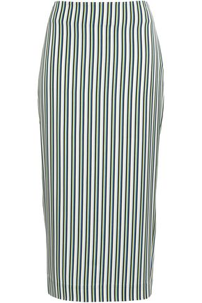 DIANE VON FURSTENBERG Printed stretch-jersey midi pencil skirt