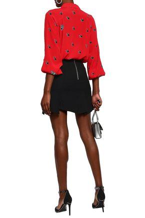 McQ Alexander McQueen Asymmetric crepe mini skirt