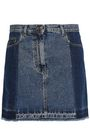 McQ Alexander McQueen Two-tone denim mini skirt