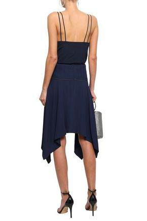 MUGLER Asymmetric seersucker skirt