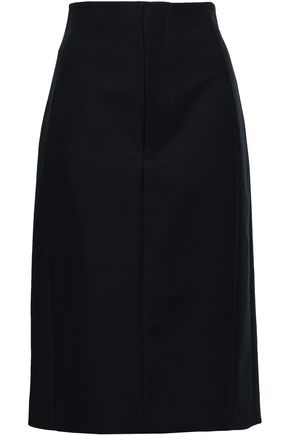 KHAITE Kelly cotton-twill skirt