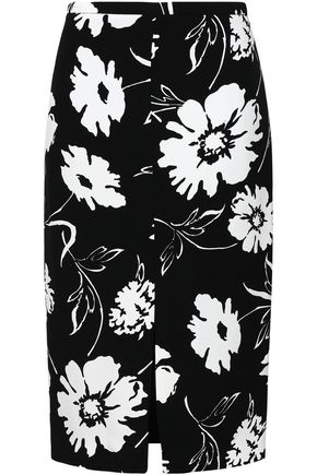 MICHAEL KORS COLLECTION Printed crepe pencil skirt