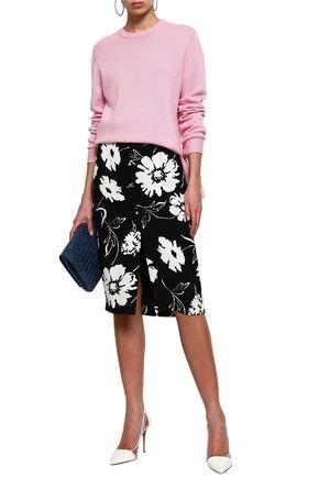 MICHAEL KORS COLLECTION Printed crepe pencil skirt