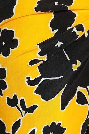 MICHAEL KORS COLLECTION Printed silk crepe de chine wrap skirt