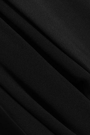 3.1 PHILLIP LIM Asymmetric gathered crepe midi skirt