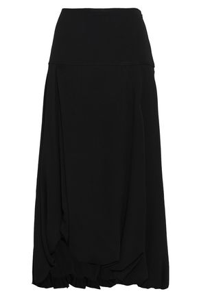3.1 PHILLIP LIM Asymmetric gathered crepe midi skirt
