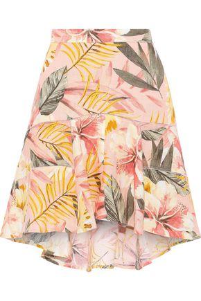 JOIE Radhiya floral-print linen mini skirt