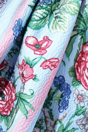 EMILIA WICKSTEAD Evelyn floral-print cloqué midi apron