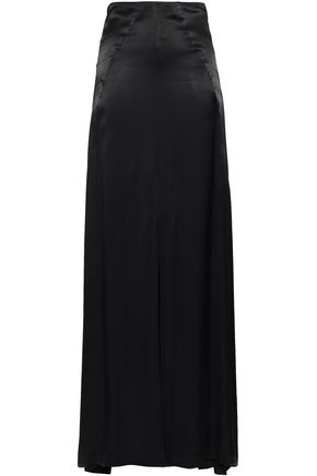 LES HÉROÏNES by VANESSA COCCHIARO The Malala split-front satin maxi skirt