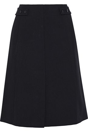 NARCISO RODRIGUEZ Button-embellished wool-twill skirt