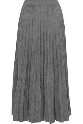 GOEN.J Pleated wool-blend midi skirt