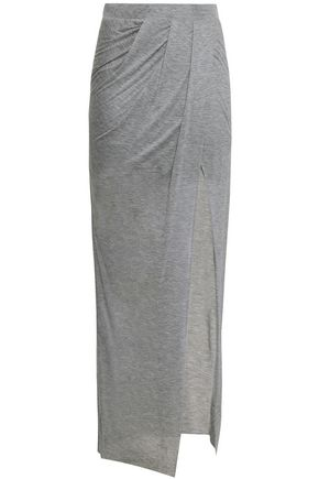 THE RANGE Wrap-effect layered modal maxi skirt