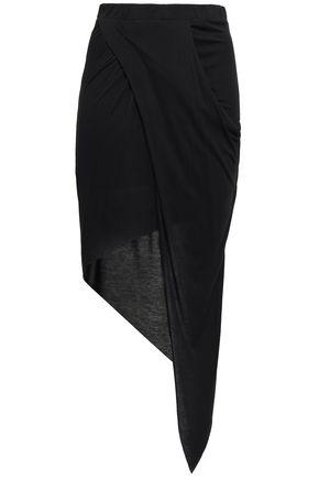 THE RANGE Wrap-effect modal-blend jersey skirt