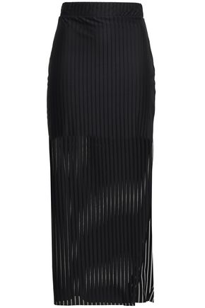 THE RANGE Striped stretch-jersey midi pencil skirt
