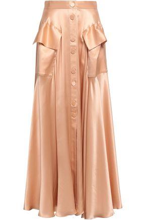 MICHAEL LO SORDO Silk-satin maxi skirt