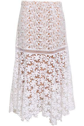 MICHAEL MICHAEL KORS Cotton guipure lace midi skirt