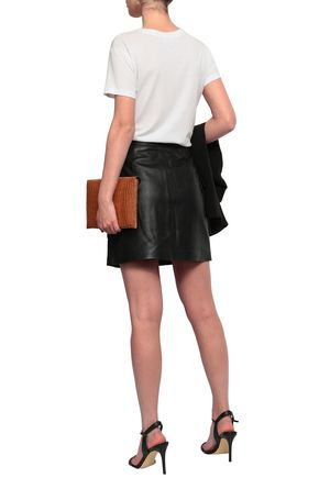 MICHAEL MICHAEL KORS Studded textured-leather mini skirt