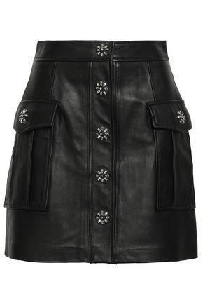 4441a64e2ca2 MICHAEL MICHAEL KORS Studded textured-leather mini skirt