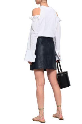 MICHAEL MICHAEL KORS Studded textured-leather mini skirt