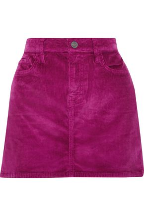 CURRENT/ELLIOTT Wild Aster cotton-blend corduroy mini skirt