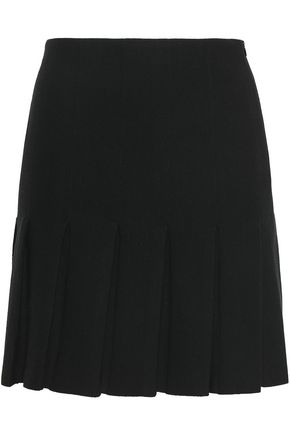MOSCHINO Pleated wool mini skirt