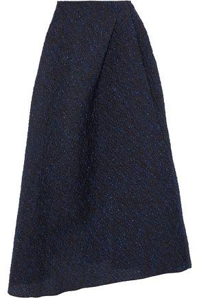 ROLAND MOURET Mulligan metallic cloqué midi skirt
