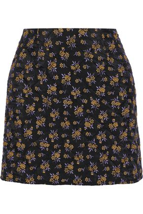 GOEN.J Quilted jacquard mini skirt